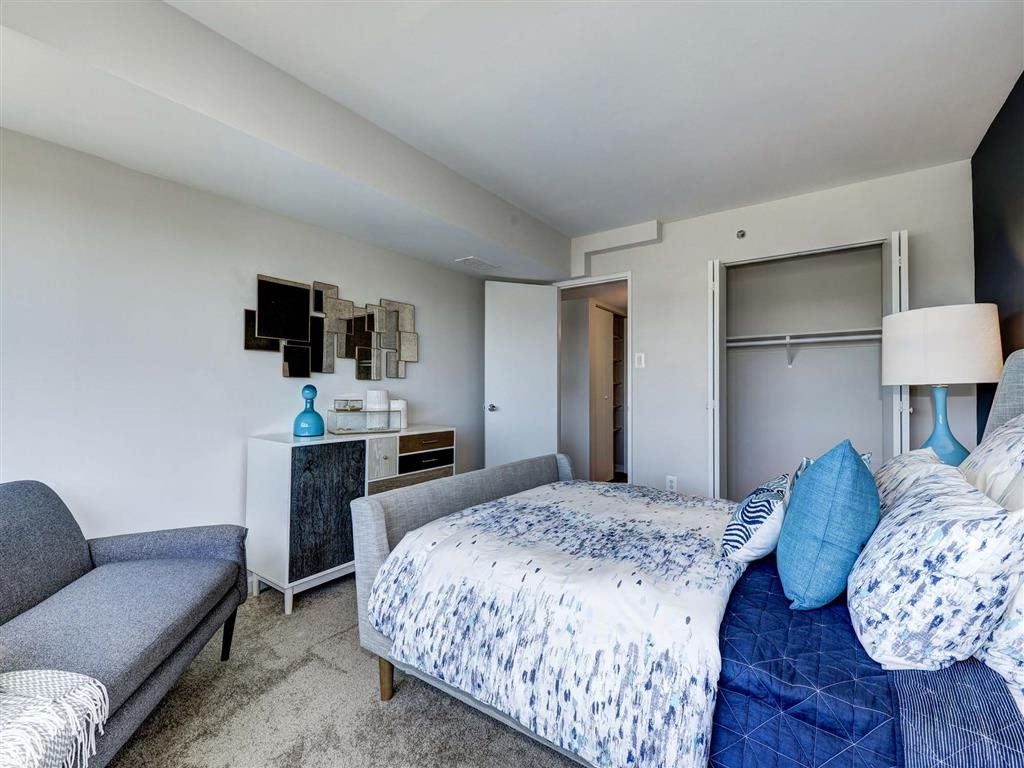 Bedroom With Adequate Storage at The Mark Apartments, Alexandria, Virginia