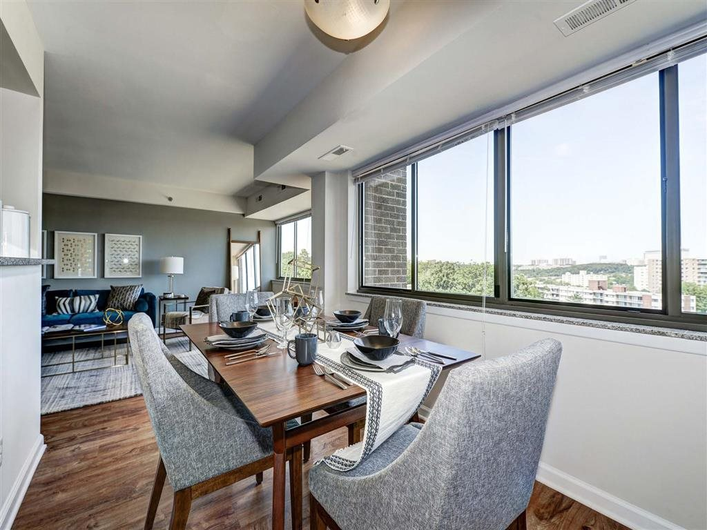 Formal Dining Area at The Mark Apartments, Alexandria, Virginia