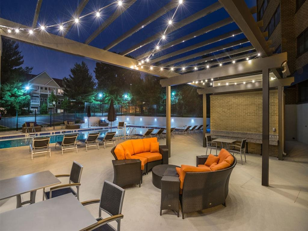 Beautiful Outdoor Lounge at The Mark