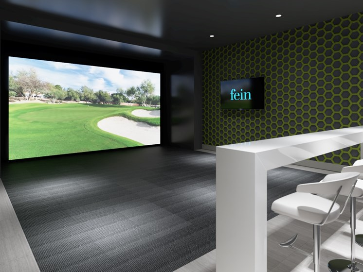 Play on a Full Swing Golf system at The Canopy apartments