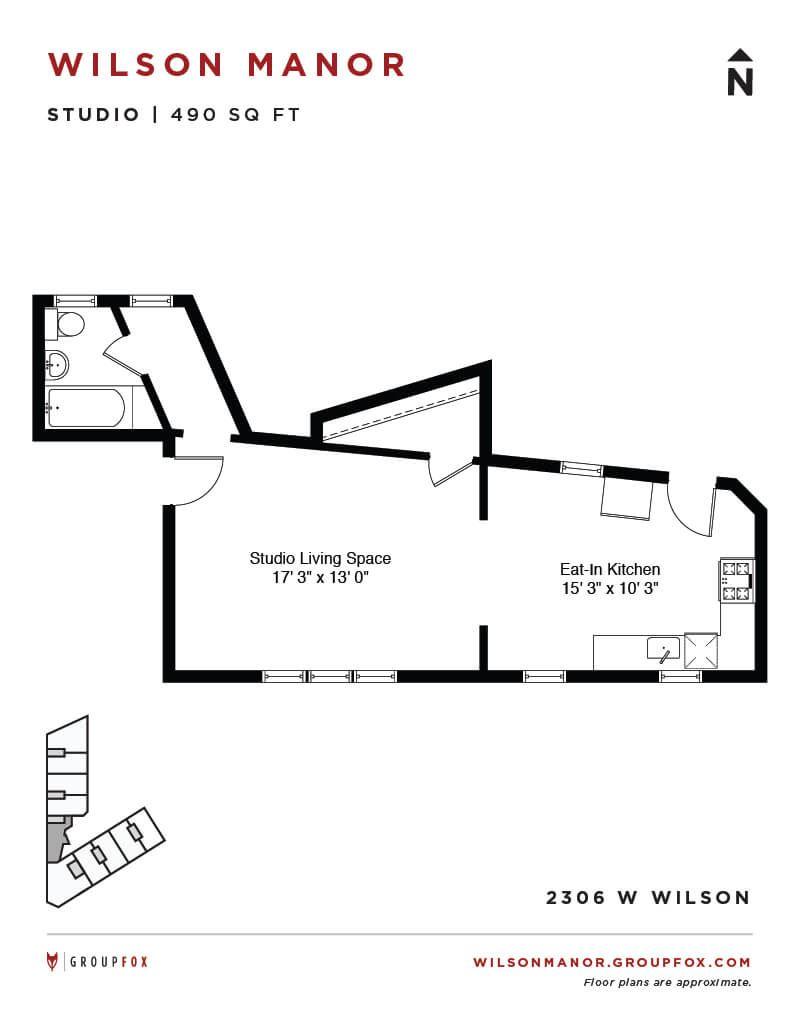 Group Fox - Wilson Manor - Studio Floorplan