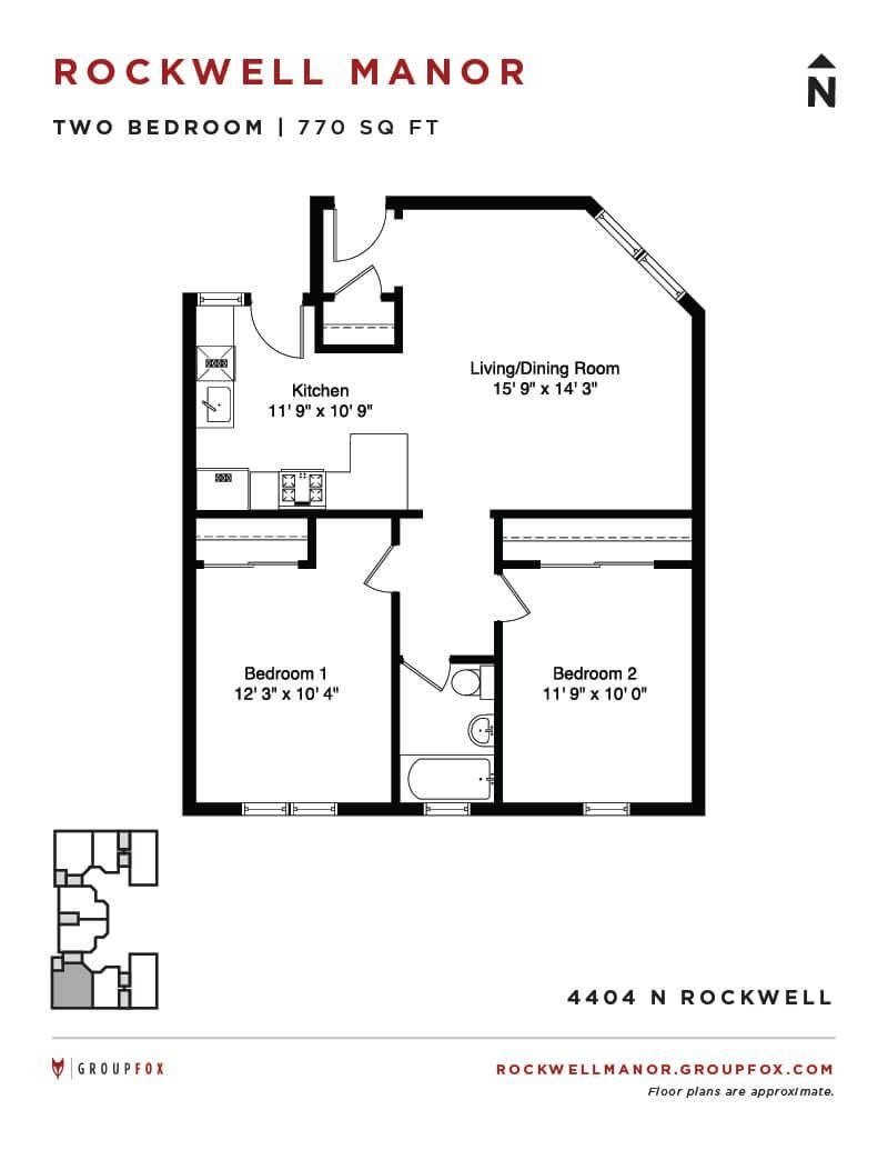 Rockwell Manor - Two Bedroom Floorplan