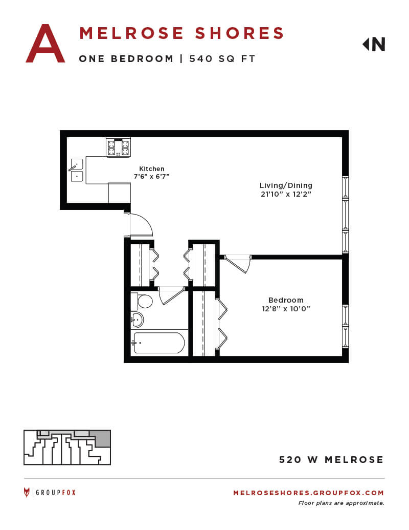 520 Melrose Ave., Chicago, IL - 1,490 USD/ month