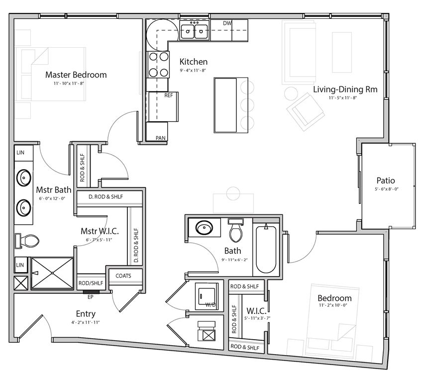 Aura C3 two bedroom 2 bathroom at Haven at Uptown
