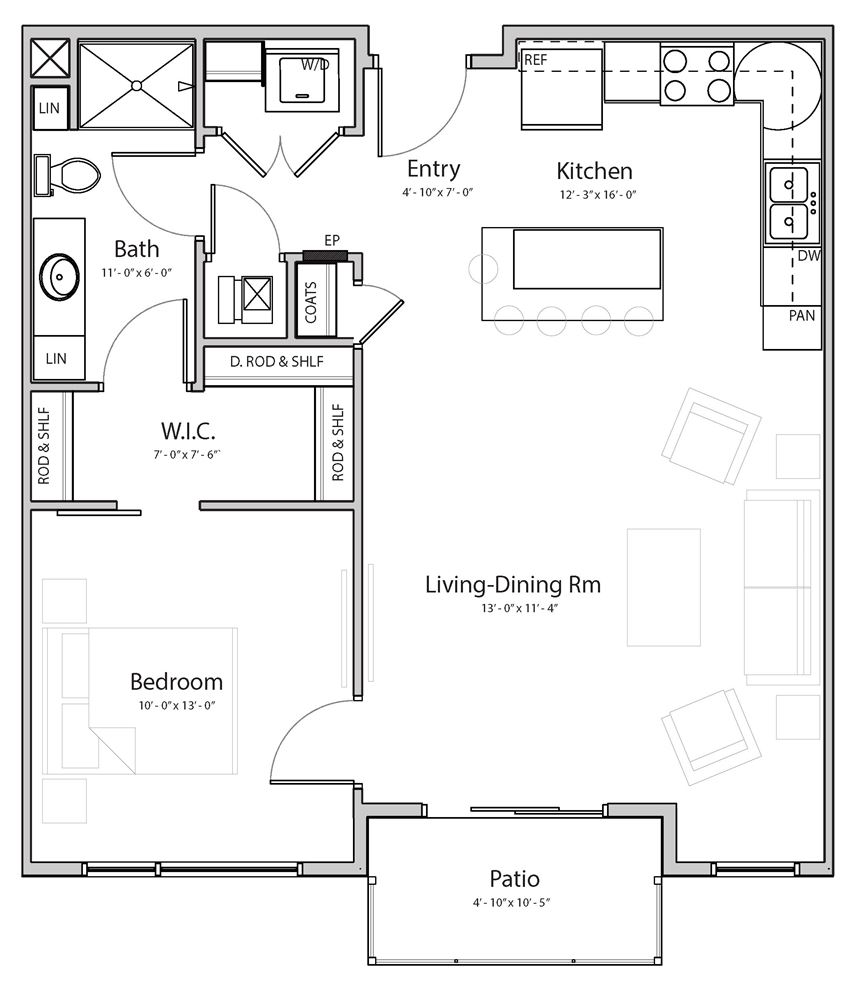 Calm (B3) one bedroom one bathroom at Haven at Uptown