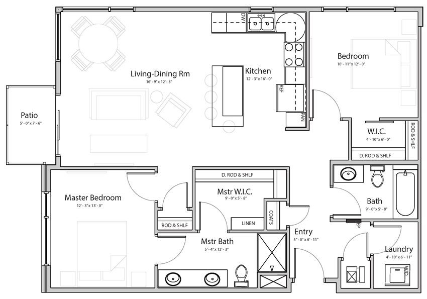 Dawn (C4.1) two bedroom two bathroom at Haven at Uptown