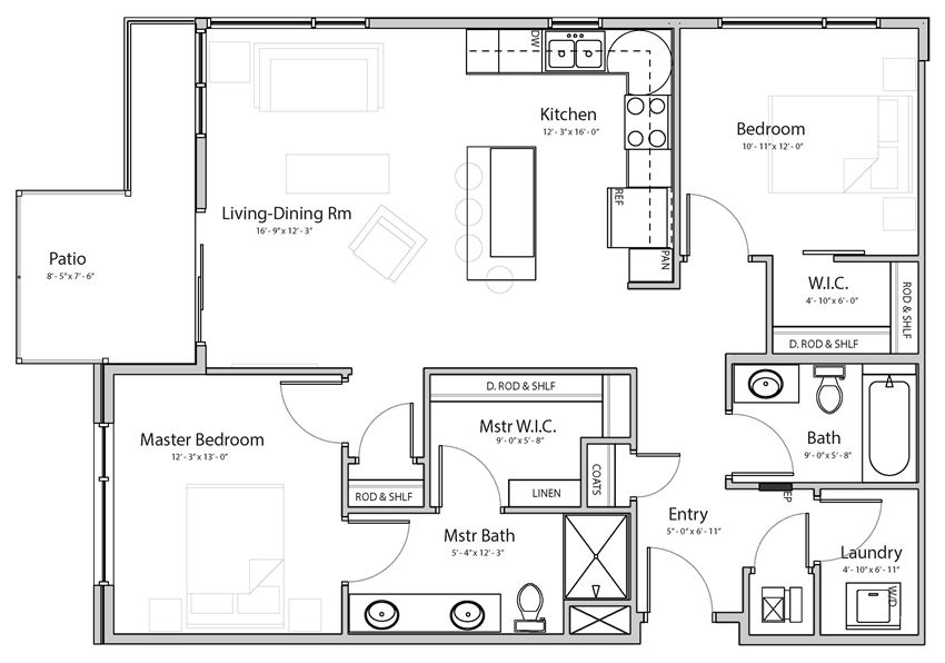 Dawn (C4.2) two bedroom two bathroom at Haven at Uptown