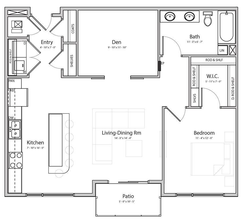 Melody (B5.1) one bedroom one bathroom at Haven at Uptown