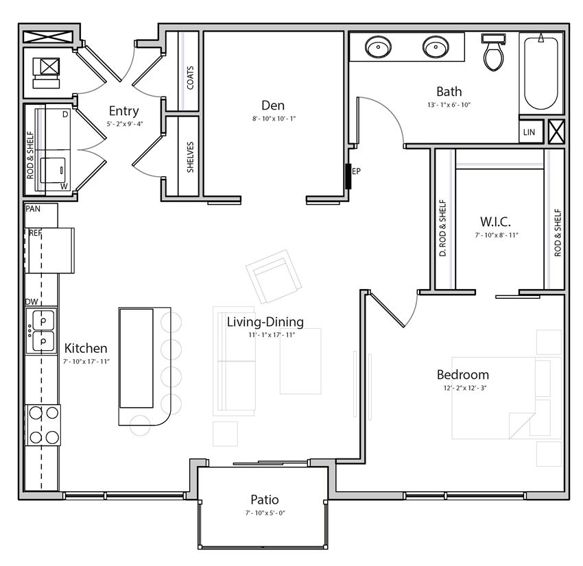 Melody (B5.2) one bedroom one bathroom at Haven at Uptown