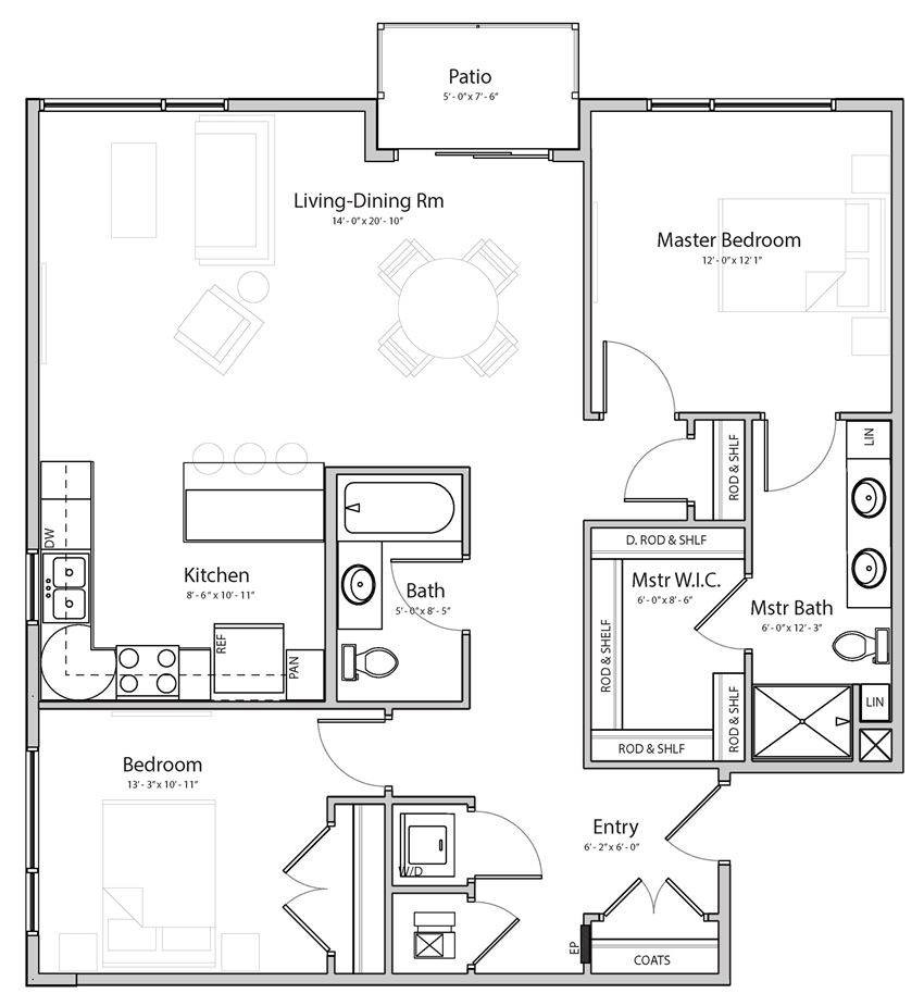 Radiance (C6) two  bedroom two bathroom at Haven at Uptown