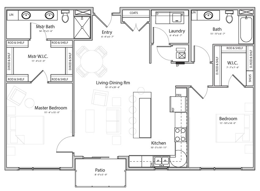 Splendor (C5) two bedroom two bathroom at Haven at Uptown