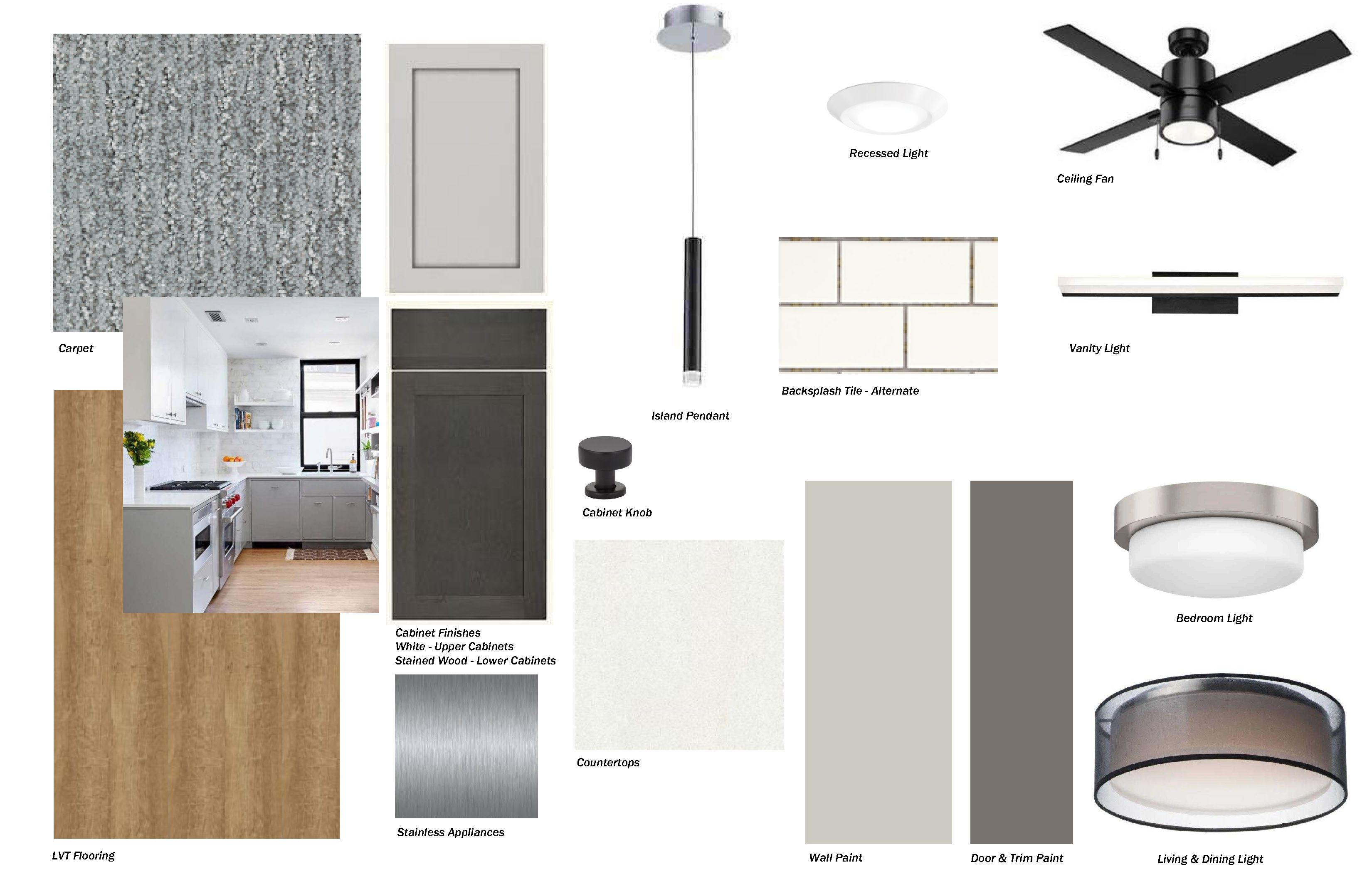Slate floor plan finishes for Haven at Uptown