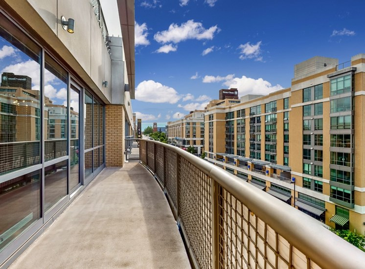 Soak up the spectacular views of Omaha and Turner Park from this 2 bedroom penthouse at Midtown Crossing Apartments