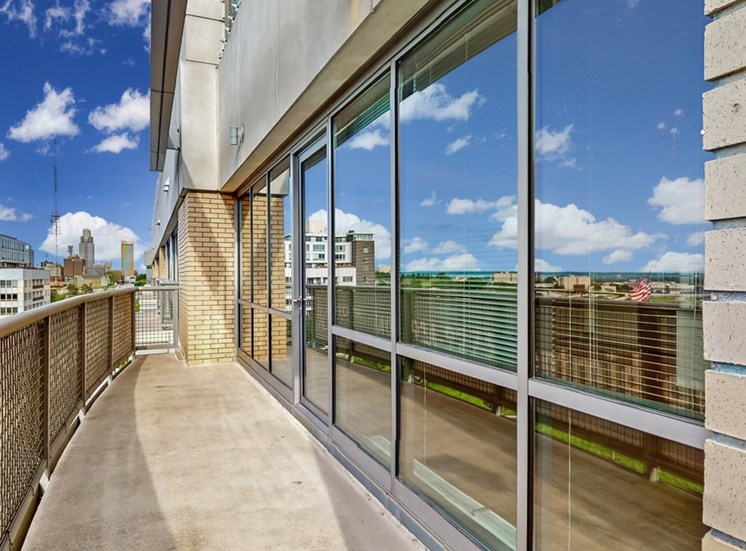 You'll relish in the spectacular views of Omaha and Turner Park from this 2 bedroom at Midtown Crossing Apartments