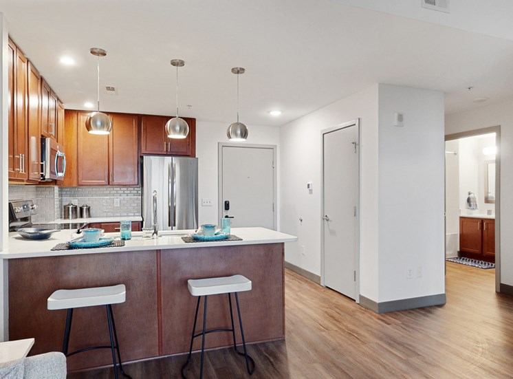 Easy living with plenty of storage space in a 1 bedroom floor plan at Midtown Crossing Apartments Omaha
