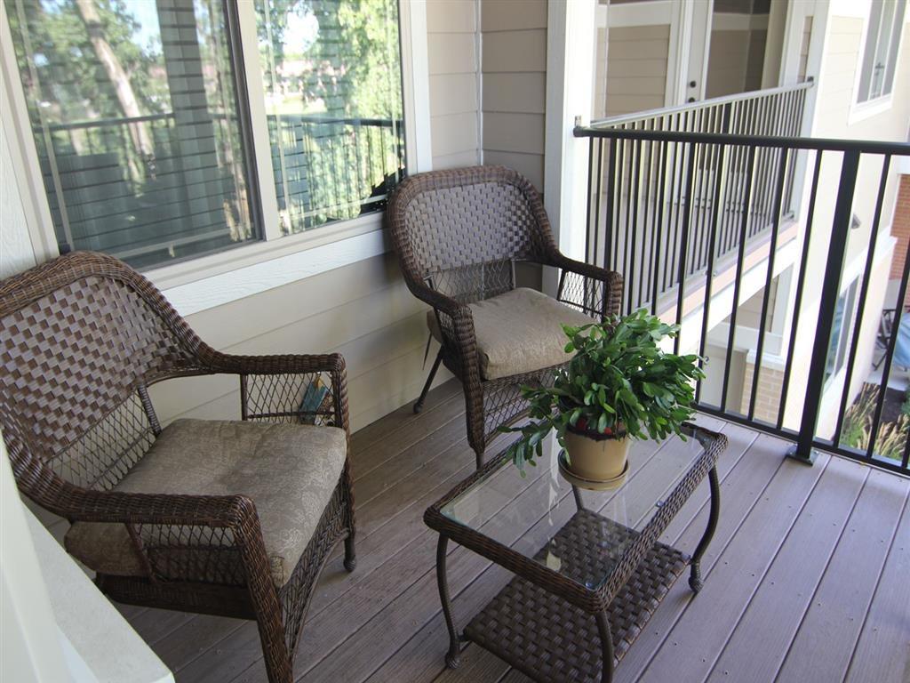 balcony set up at Villas at Wilderness Ridge in Lincoln Nebraska