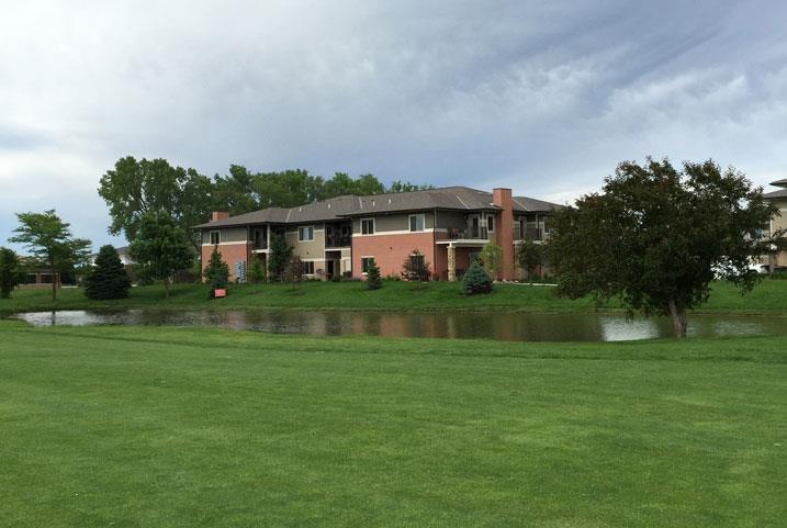 landscaping at Villas at Wilderness Ridge in Lincoln Nebraska
