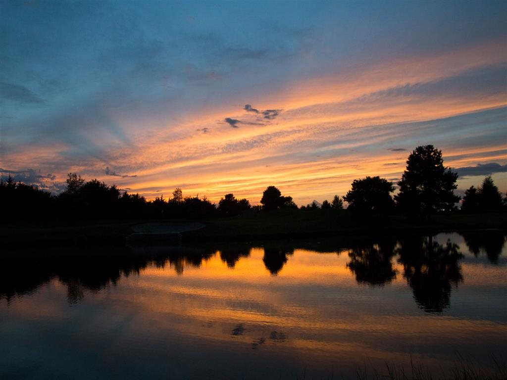 pond at Villas at Wilderness Ridge in Lincoln Nebraska