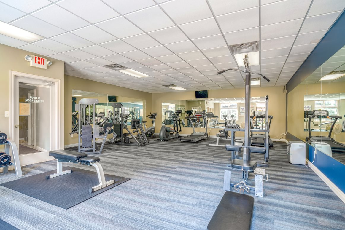 Modern equipment and plenty of space to exercise indoors at Southwind VillasAC