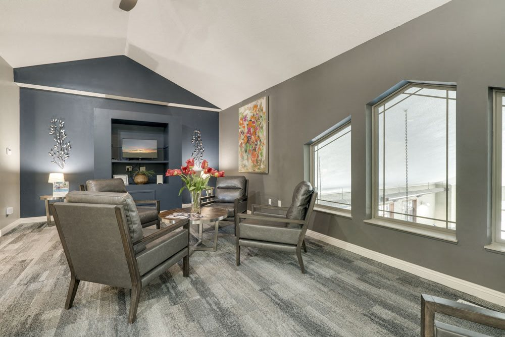 Leasing lounge in the clubhouse at Southwind Villas in southwest Omaha in La Vista, NE, 68128