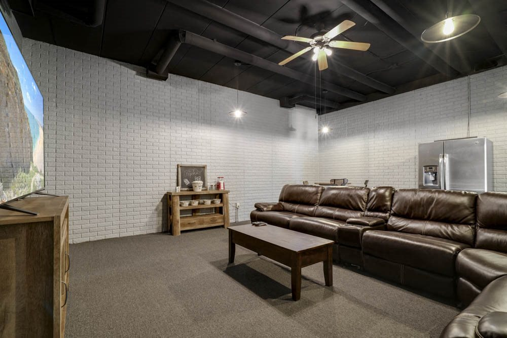 Theater room at Southwind Villas in southwest Omaha in La Vista, NE, 68128