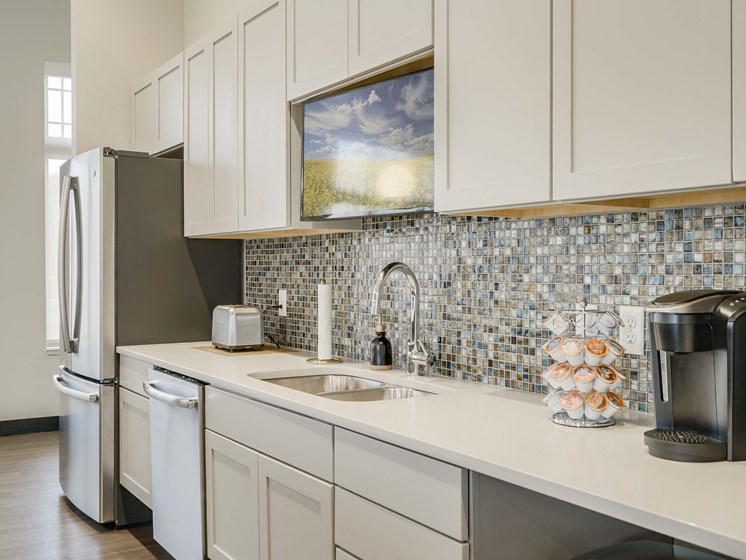 Modern and luxurious clubhouse at The Flats at Shadow Creek new luxury apartments in east Lincoln NE 68520