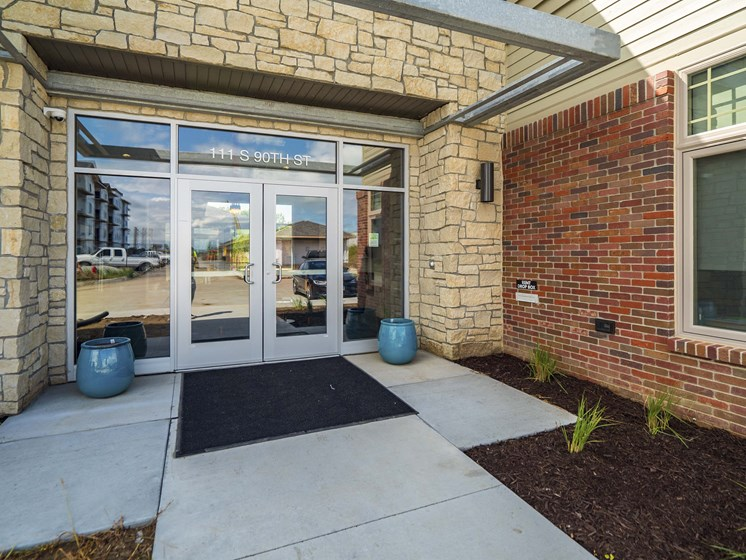 The clubhouse at The Flats at Shadow Creek new luxury apartments in east Lincoln NE 68520