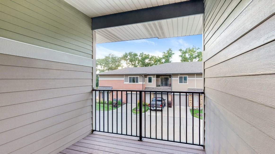 Enjoy the view from your private balcony in the 2 bedroom Ash floor plan