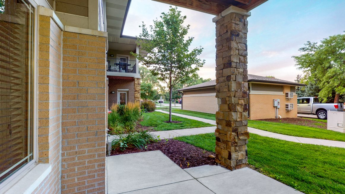 You'll love the private entrance and patio space in the two bedroom Cedar floor plan.