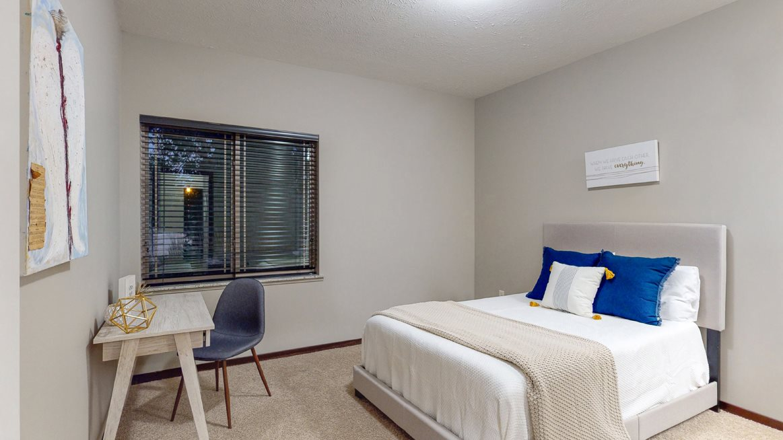Spacious bedrooms for restful sleep are found in the Cedar floor plan