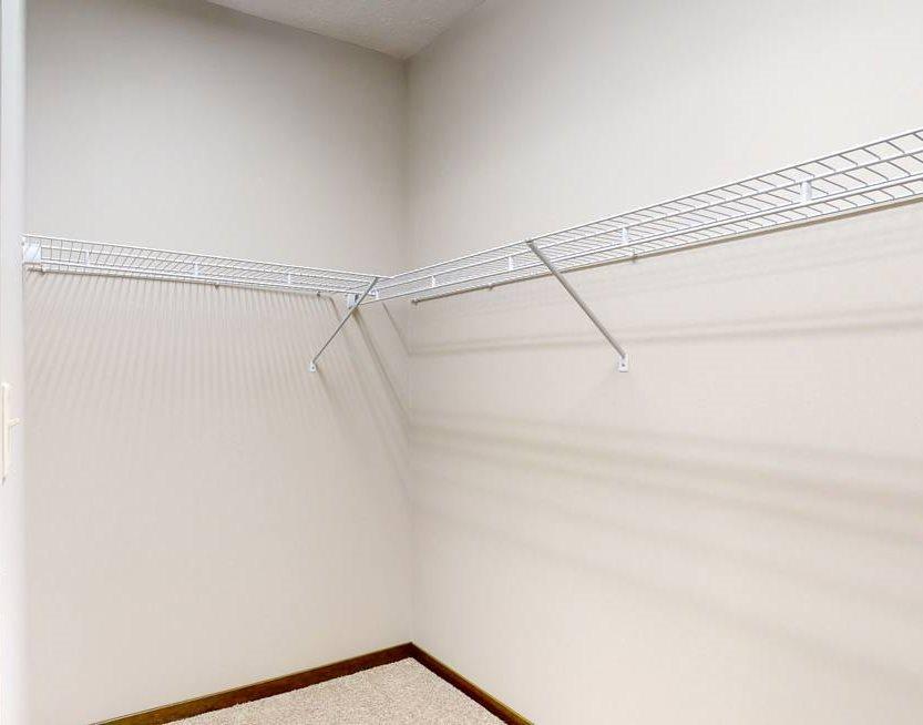 You'll love the abundant storage in the master closet in the Cedar floor plan