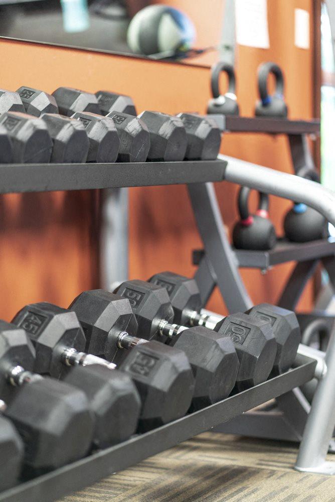 Fitness center at the Villas at Wilderness Ridge