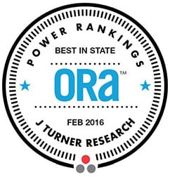 J Turner Research – ORA Power Rankings Best in State