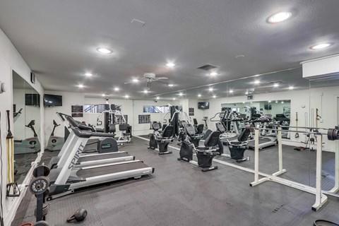 Fitness Center at Whiffle Tree Apartments in Huntington Beach California.