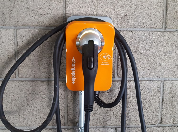 Hollywood Apartments for Rent-Vues On Gordon Apartments Hanging Pump For Electric Vehicle Charging Station