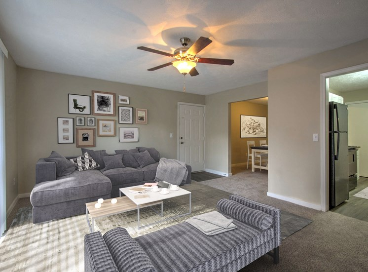 Cambridge Apartments Flowood MS Living Room Staged
