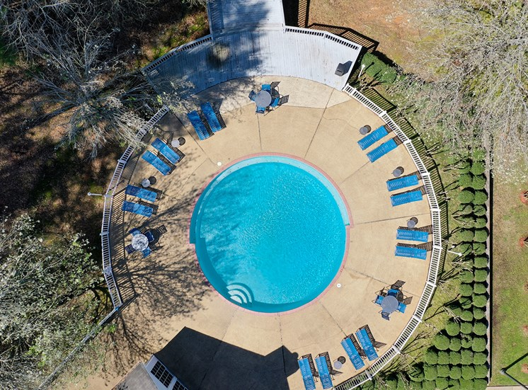 Northwood Place Apartments Meridian MS Pool Aerial View