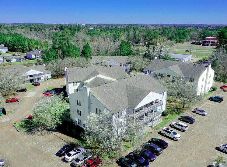 Northwood Place Apartments Meridian MS Aerial View 2