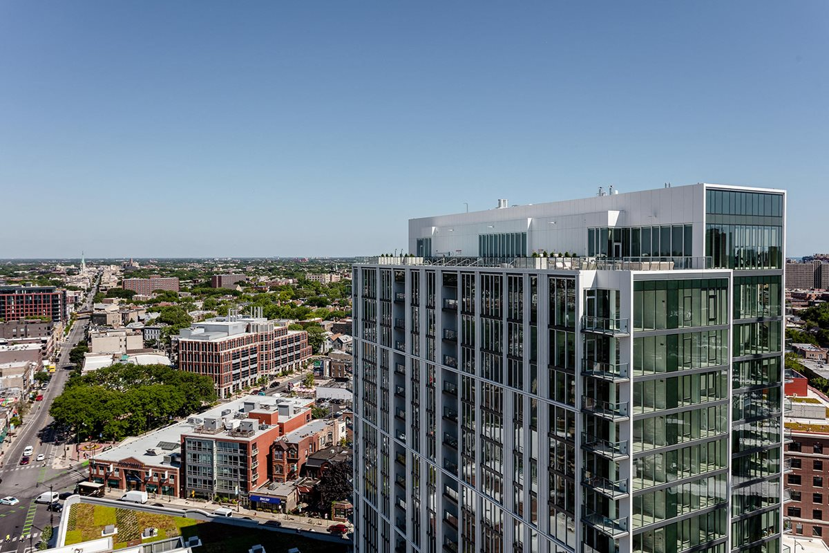 Apartments at Lincoln Common South Tower Views Looking North
