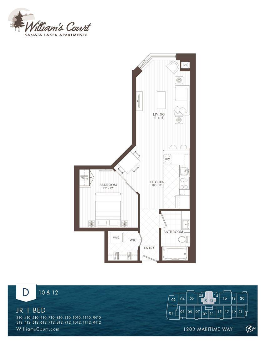 Willam Court Bachelor D &G Floor Plan Type 1