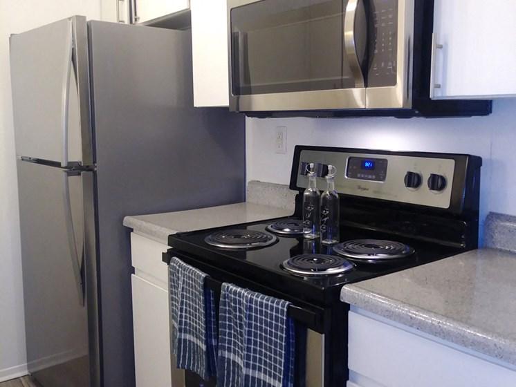 El Castillo Apartments kitchen area and alliances