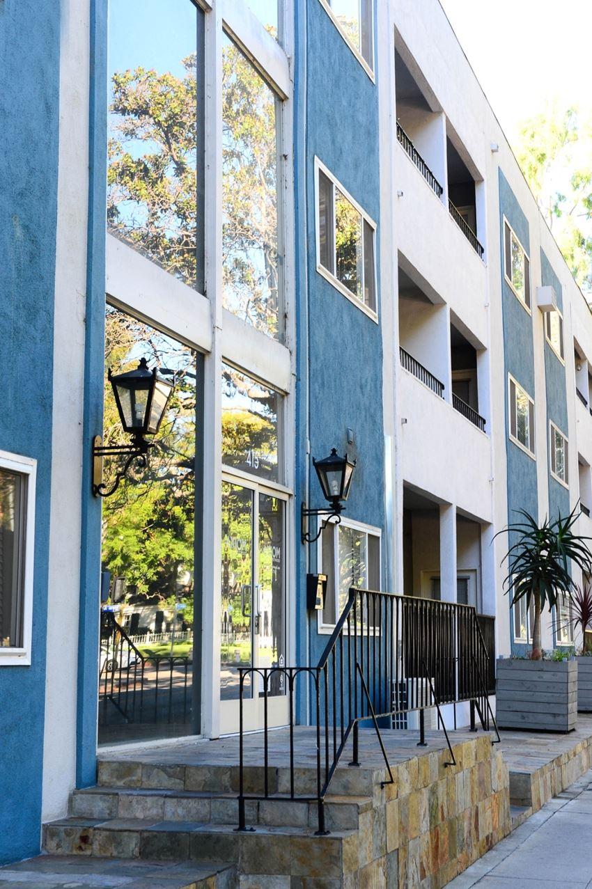 Axiom Westwood Luxury Apartments Entrance