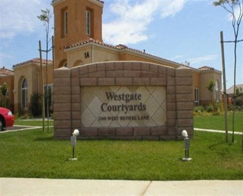 Westgate Courtyards signage