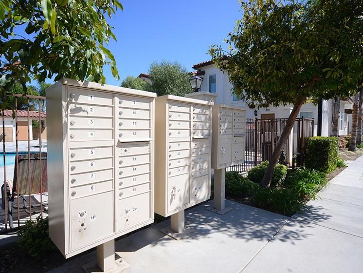 Parkside Villas mailboxes