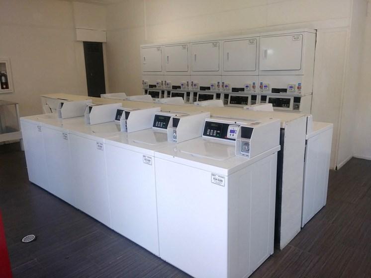 El Castillo Apartments laundry room
