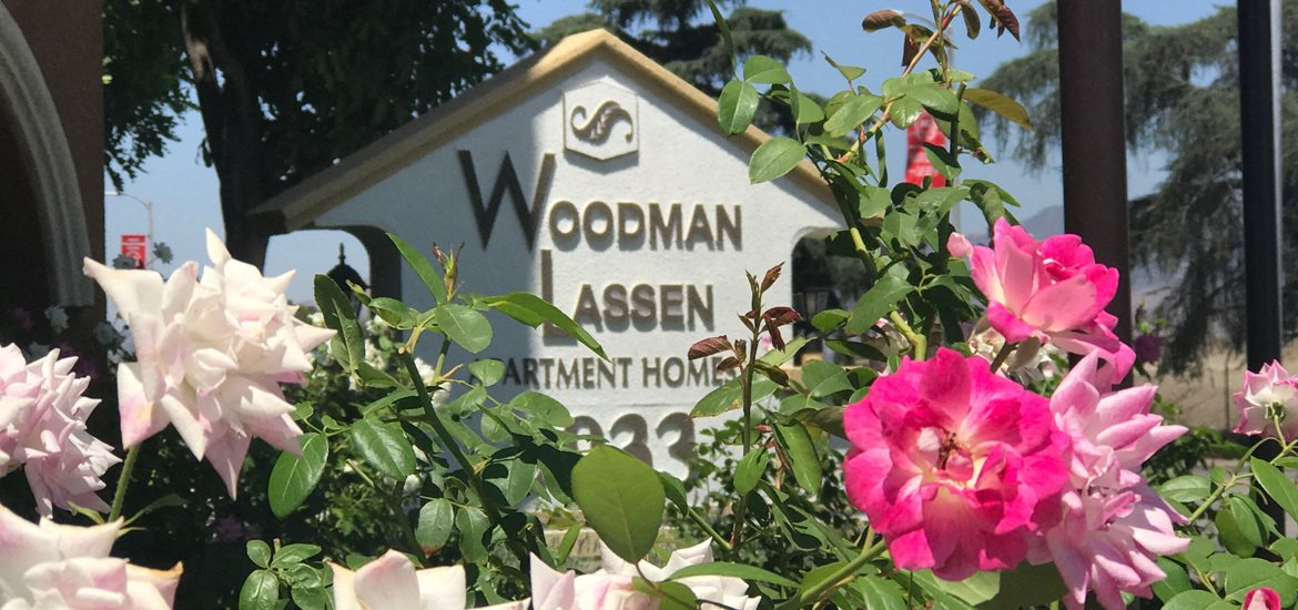 Woodman Lassen Apartments signage