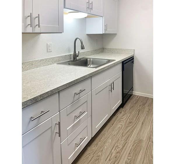 El Castillo Apartments kitchen area with appliances