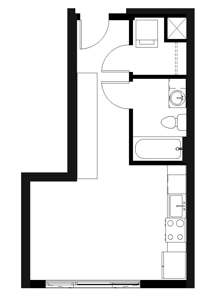 Studio 1 Bath  S3