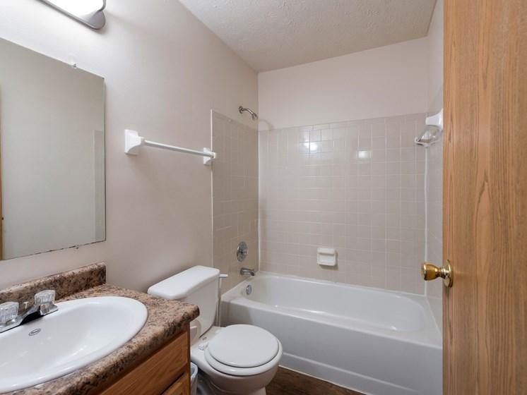 Bathroom With Bathtub at Ashley Village Apartments, Ohio