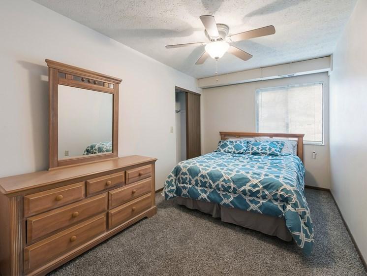 Well Lit Bedroom at Ashley Village Apartments, Columbus